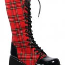 "3 1/2"" red plaid boot"