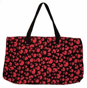 Red Skulls punk bag