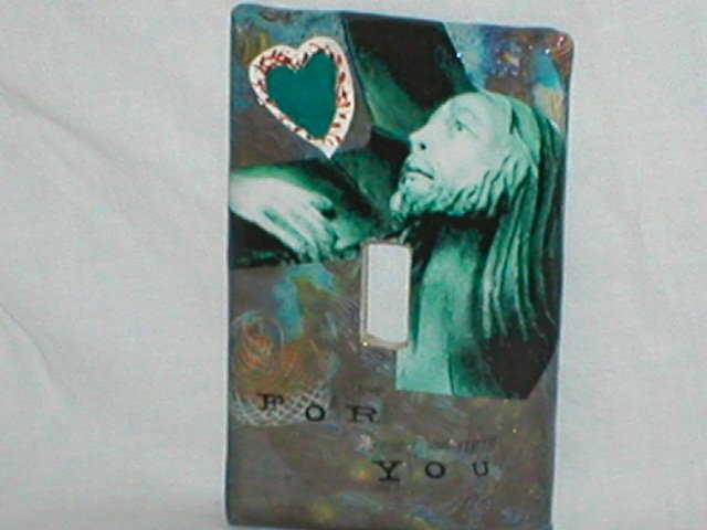 Collage art Design Switch plate cover Jesus For You
