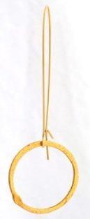 Designer pair hoops Earring 18k plated gold-new