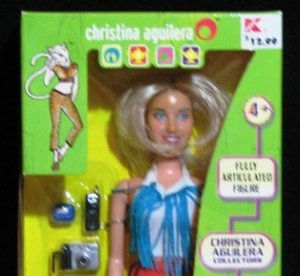 "12"" CHRISTINA AGUILERA FASHION DOLL 1999 YABOOM"