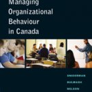 NEW - Managing Organizational Behaviour in Canada