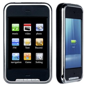 4GB TOUCH SCREEN PERSONAL MEDIA PLAYER (BLACK)