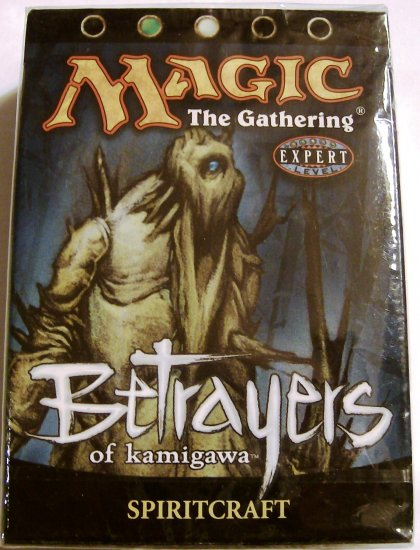 Magic The Gathering Betrayers of Kamigawa Spiritcraft green white MTG Theme Deck