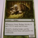 mtg single Giant Badger 253/350 green common 8th edition card