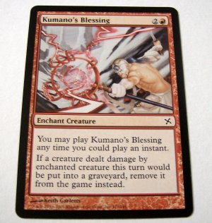 Kumano's Blessing 111/165 red Betrayers common card