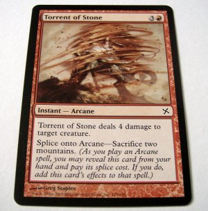 Torrent of Stone 119/165 red Betrayers common card