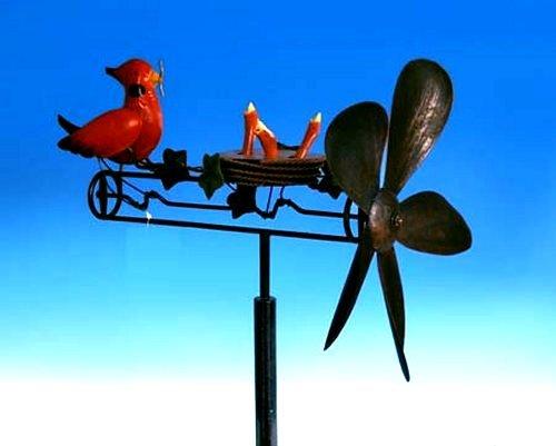 "Tin Metal Whirly-Gig - ""Mama Bird"""