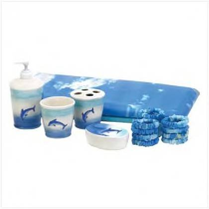 Leaping Dolphin 6 Piece Bathroom Set