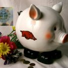 Collegiate Arkansas Razorbacks Piggy Bank