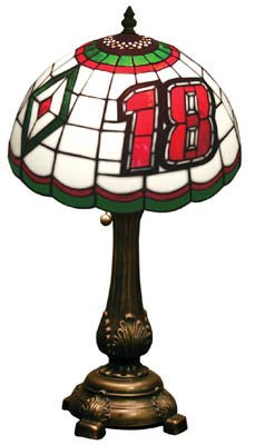 Bobby Labonte NASCASR Stained Glass Table Lamp
