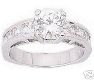 3.10ct BRILLIANT CUT SIMULATED DIAMOND ENGAGEMENT WEDDING RING