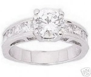 3.10ct BRILLIANT CUT SIMULATED DIAMOND ENGAGEMENT WEDDING RING
