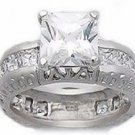 3.60ct PRINCESS CUT SIMULATED DIAMOND ENGAGEMENT WEDDING RING