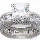 3.60ct PRINCESS CUT SIMULATED DIAMOND ENGAGEMENT WEDDING RING