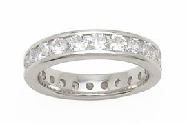 1.0ct ROUND BRILLIANT CUT ETERNITY BAND RING