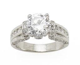 2.90ct BRILLIANT CUT SIMULATED DIAMOND ENGAGEMENT WEDDING RING