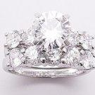 3.25ct BRILLIANT CUT SIMULATED DIAMOND ENGAGEMENT WEDDING RING SET
