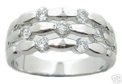 1.50ct BRILLIANT CUT SIMULATED DIAMOND ANNIVERSARY BAND RING