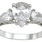 2.05ct PEAR CUT SIMULATED DIAMOND ENGAGEMENT WEDDING RING