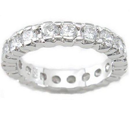 2.0ct BRILLIANT CUT SIMULATED DIAMOND ANNIVERSARY BAND RING
