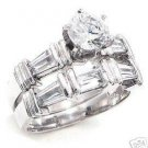 2.14ct BRILLIANT CUT SIMULATED DIAMOND ENGAGEMENT WEDDING RING SET