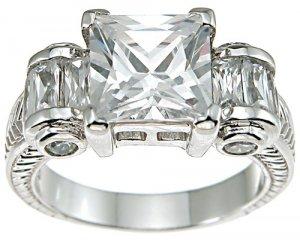 2.16ct BRILLIANT CUT SIMULATED DIAMOND ENGAGEMENT WEDDING RING