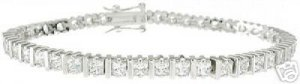 10.88ct BRILLIANT CUT SIMULATED DIAMOND BRACELET