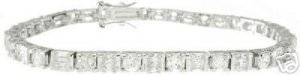 12.72ct BRILLIANT + PRINCESS CUT SIMULATED DIAMOND BRACELET