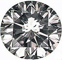 0.50CT FLAWLESS ROUND CUT SIMULATED DIAMOND