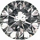 0.75CT FLAWLESS ROUND CUT SIMULATED DIAMOND