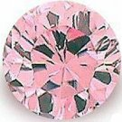 1.00CT ROUND CUT PINK SIMULATED DIAMOND