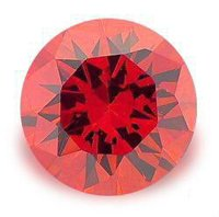 1.0CT FLAWLESS ROUND CUT RUBY SIMULATED DIAMOND