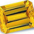 1.00CT EMERALD-CUT CANARY SIMULATED DIAMOND