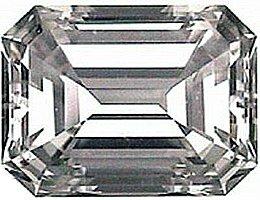1.00CT FLAWLESS EMERALD-CUT SIMULATED DIAMOND