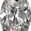 1.00CT FLAWLESS OVAL CUT SIMULATED DIAMOND