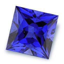 1.0CT FLAWLESS PRINCESS CUT SAPPHIRE SIMULATED DIAMOND