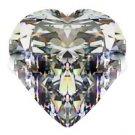 1.00CT FLAWLESS HEART CUT RUSSIAN SIMULATED DIAMOND