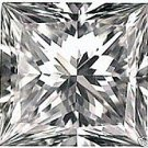 2.00CT FLAWLESS PRINCESS CUT SIMULATED DIAMOND
