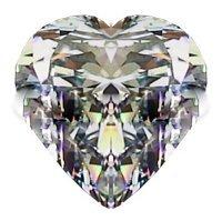 2.00CT FLAWLESS HEART CUT SIMULATED DIAMOND