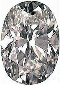 2.00CT FLAWLESS OVAL CUT SIMULATED DIAMOND