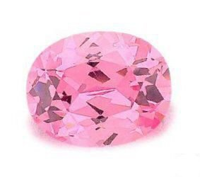 2.00CT FLAWLESS PINK OVAL CUT SIMULATED DIAMOND