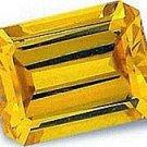 2.50CT EMERALD-CUT CANARY SIMULATED DIAMOND