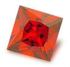 3.0CT FLAWLESS PRINCESS CUT RUBY SIMULATED DIAMOND