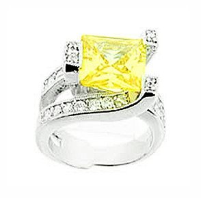 3.5ct PRINCESS CUT SIMULATED DIAMOND ENGAGEMENT WEDDING RING