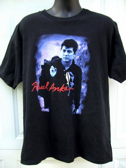 SOLD! Rare Paul Anka World Tour Large or XL T-Shirt 1998 Free Shipping!