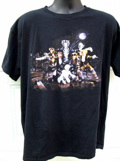 SOLD! Vintage Broadway's CATS XL Black T-Shirt 1981 Hard to find Cast Picture
