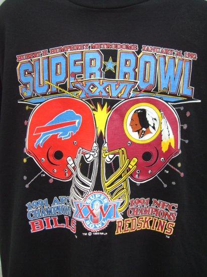 SOLD!  Super Bowl (SUPERBOWL 1992) XXVI (26) Washington Redskins vs Bills XXL or XXL T SHIRT NEW