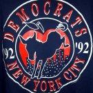 RARE VINTAGE 1992 DEMOCRATIC CONVENTION Large T-SHIRT New York City NYC ~DNC