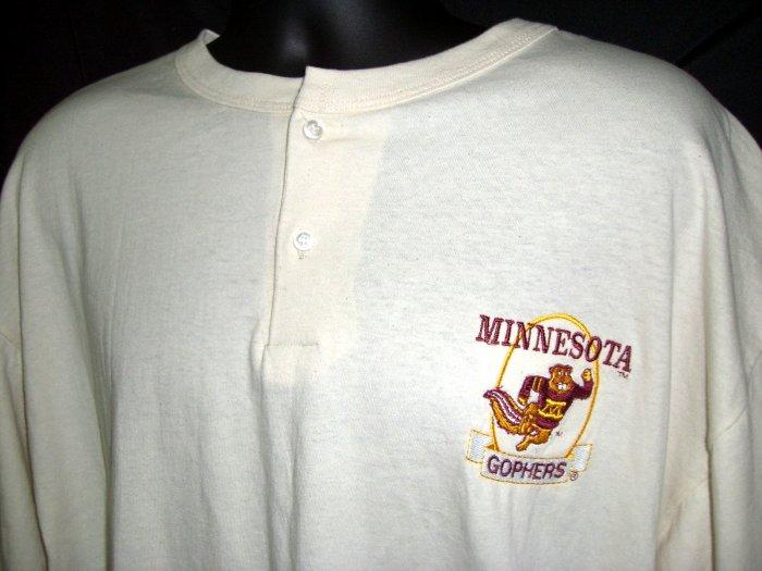 SOLD!  Minnesota Golden Gopher XL T-Shirt NEW NWT Rare 3-Button Down Tee Shirt U of M